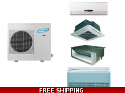 AirCon Custom Multi Zone Ductless Heat Pump AC Console Cassette Ducted